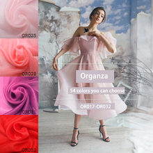 1meter High-grade white encryption transparent organza fabric Diy dress skirt clothing material designer OR017-OR032