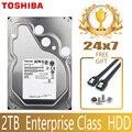 Жесткий Диск TOSHIBA 2 ТБ, внутренний жесткий диск HDD SATA III 7200 об/мин 128 м 3,5