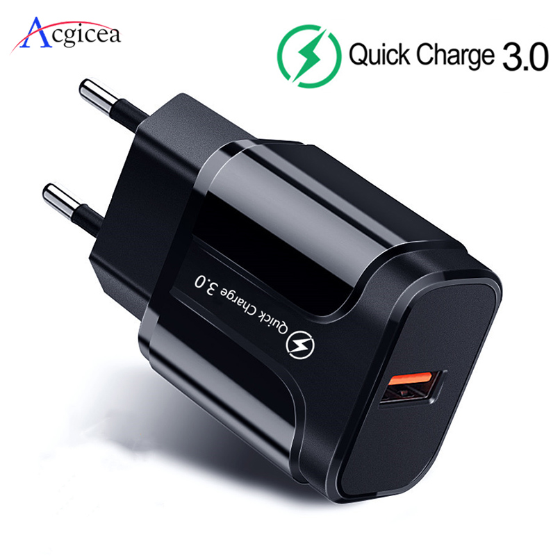 5V 3A Universal Charger EU US USB Phone Charger Quick Charge 3.0 Fast Charging For Power Bank For iPhone 11 Pro XR Phone tablets(China)