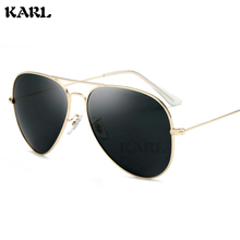 New Polarized Pilot Sunglasses Men KARL Brand Designer Metal Frame Women Aviation Sun Glasses Zonnebril Heren