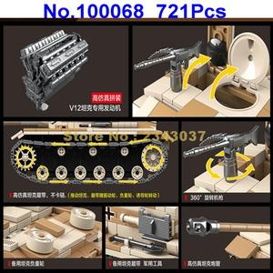 Image 2 -  721pcs ww2 military germany tank military world war ii tank 2  soldier weapon army building blocks Toy