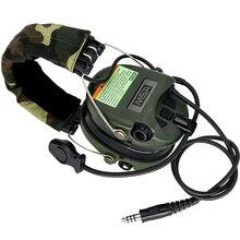Tactical Hunting Anti-Noise Sordin Headphones Airsoft Military Standard Headset Aviation Softair Walkie Talkie Headse