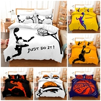 3D basketball Bedding Set Duvet Cover & Pillowcase Popular Style 2/ 3 PCS Suit.(No padding and No sheet