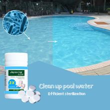 Swimming Pool Water Cleaning Tablets Multi-Functional Disinfection Effervescent Tablets For Kitchens, Toilets, Swimming Pools 50 pieces of swimming pool instant disinfection tablets chlorine dioxide effervescent tablets disinfectant chlorine disinfectant
