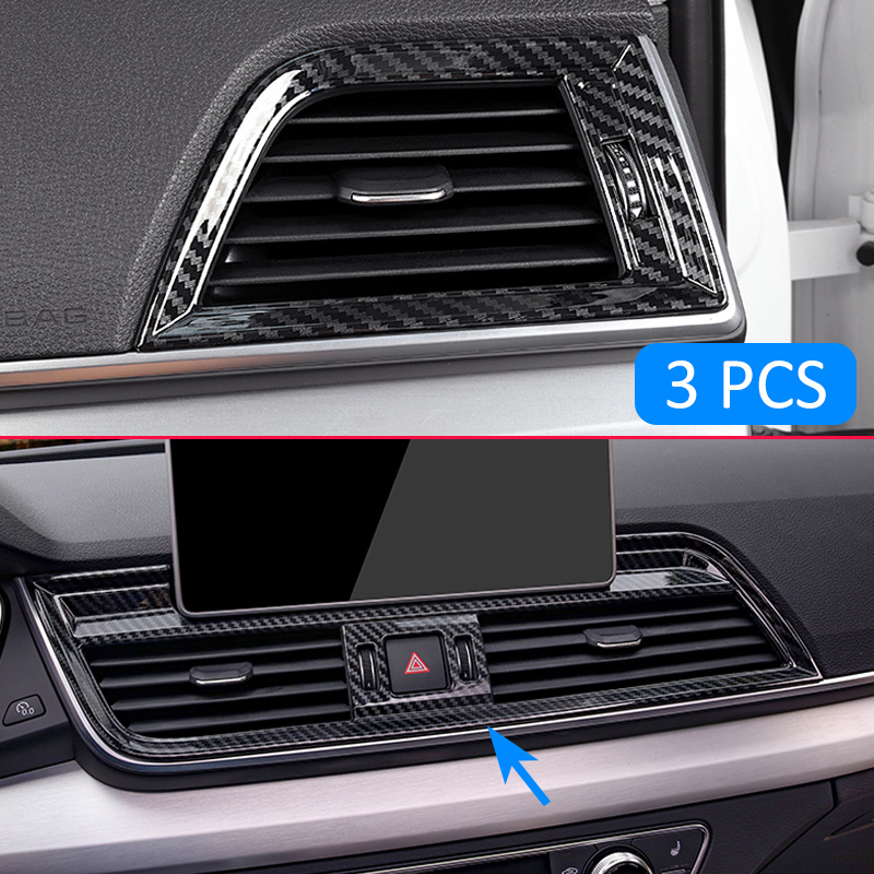 Carbon Fiber Interior front dashboard cover trim For Audi Q5L FY 2018 2019