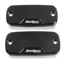Motorcycle CNC accessories 1 pair Reservoir Brake Cap Power Part Front For Honda Sliver Wing 400 2008-2014