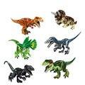 Динозавр блоки Мировая Серия Трицератопс T-Rex в парк развлечений рисунок собирает Дино Строительные кирпичи игрушки DIY монтажные блоки игру...