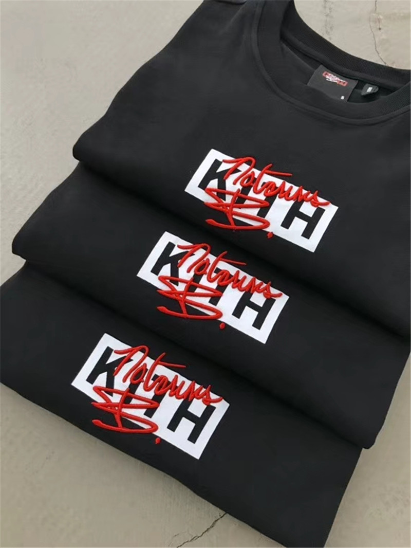 2020SS KITH Tee Oversized Men Women T Shirt 1:1 Best Quality Embroidery Box Streetwear Hip Hop KITH T-shirts