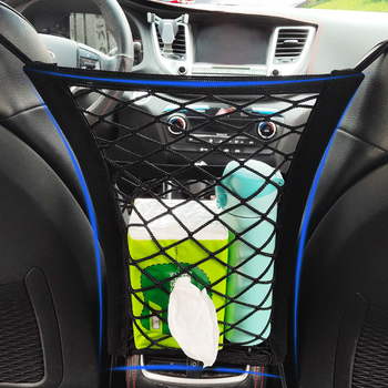Organizator samochodu netto torba do przechowywania na tylne siedzenie dla Toyota Auris Corolla Avensis Verso Yaris Aygo Scion TC IM tanie i dobre opinie Nylon Storage Nets 10cm 100g JLXNet Universal Car Organizer Net Mesh Trunk goods Storage Rear back seat All Car Models 1 Pcs Lot Net