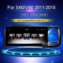 8,8 pulgadas RAM2G Android 7,0 PX6 Radio de coche estéreo para Volvo S60 V60 xc60 2011-2015 GPS soporte viaje información táctil completo