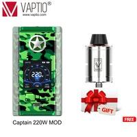 220W Vape mod Vaptio Captain Box MOD Electronic Cigarette Vaping fits dual 18650 Battery for 510 thread atomizer vape kit