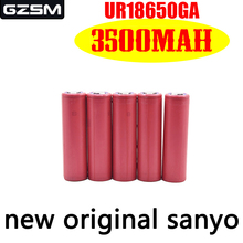 цена на GZSM 18650 battery for Sanyo NCR18650GA rechargeable battery 3500mAh 3.7V 10A For replacement battery