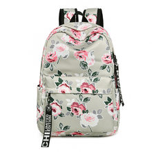 Women Fashion Water Resistant Nylon Women Backpack Flower Printing Female School Rucksack Girls Daily College Laptop Bagpack(China)