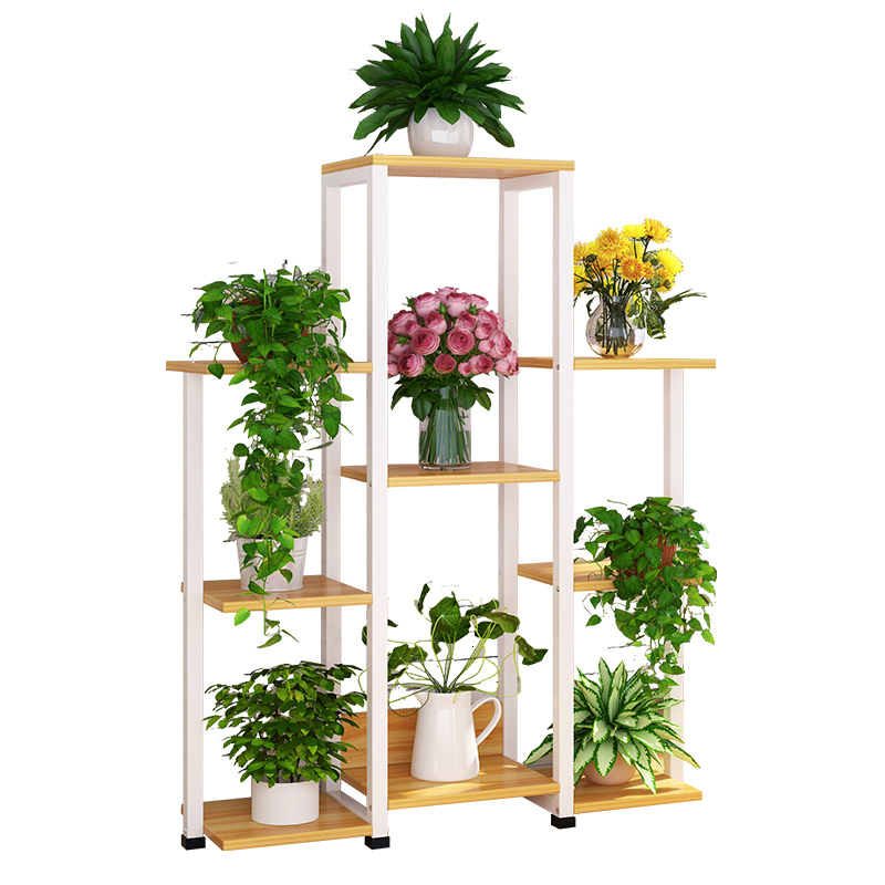 Multi-storey Indoor Living Room Flower Airs Province Space Balcony Chlorophytum Frame Landing Type Iron Meat Flowerpot