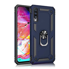 Luxury Magnet Metal Case For Galaxy Note 10 Pro Armor Shockproof Cover Silicone Bumper Kickstand