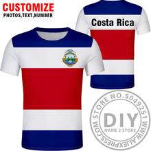 COSTA RICA t shirt diy free custom made name number cri t-shirt Fashion Ethnic Style Casual Sports Harajuku Loose T shirt Top