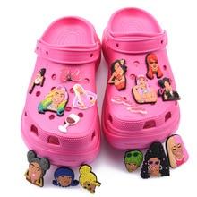 New Arrival 1 Pcs Croc Shoe Charms Cartoon Famous Superstar Clog Shoes Accessories Celebrity Singer Popular Actress Decorations