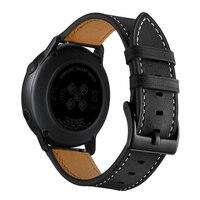 Leder Uhr Strap Für Samsung Galaxy Uhr Aktive 2 44mm 40mm Uhr band Armband Für Galaxy uhr 42mm 46mm Uhr 3 45mm 41mm