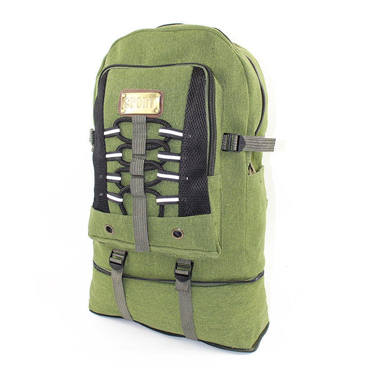 New Style Outdoor Sports Travel Heightening Backpack Large Capacity Retro Canvas Hiking Mountaineering Bag