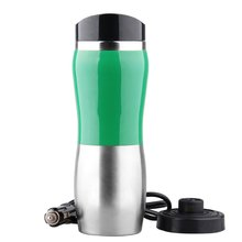 12V Stainless Steel Car Auto Heating Cup Kettle 400ml Hot Water Heater Bottle Portable Vacuum Flask Travel Car Electric Cup