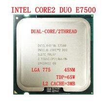 Processor Intel-Core TDP E7500 Desktop-Cpu LGA755 3M Ghz 65W 2 2-Duo 2-Duo