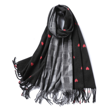 Designer Luxury Brand Scarves Women Plaid Solid Patchwork Cashmere Scarf Tassel Love Pattern Pashmina Gift for Lady Echarpe Cape stylish patchwork pattern pleated scarf for women