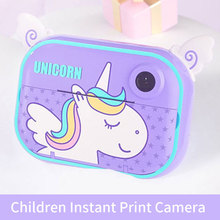 Детская камера 1080P 12 МП камера Мгновенной Печати цифровая камера с термальной фотобумагой игрушки камера для детей подарки на день рождения