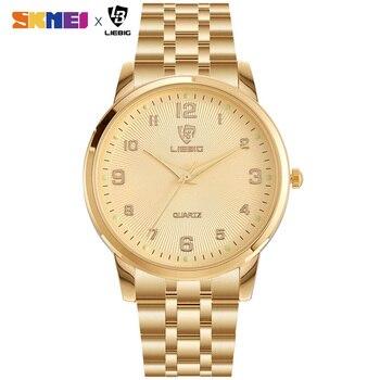 2020 Japan Quartz Movement Female Male Clock Top Brand Luxury Golden Watch Women Men Ladies relogio masculino Dropshipping L1013