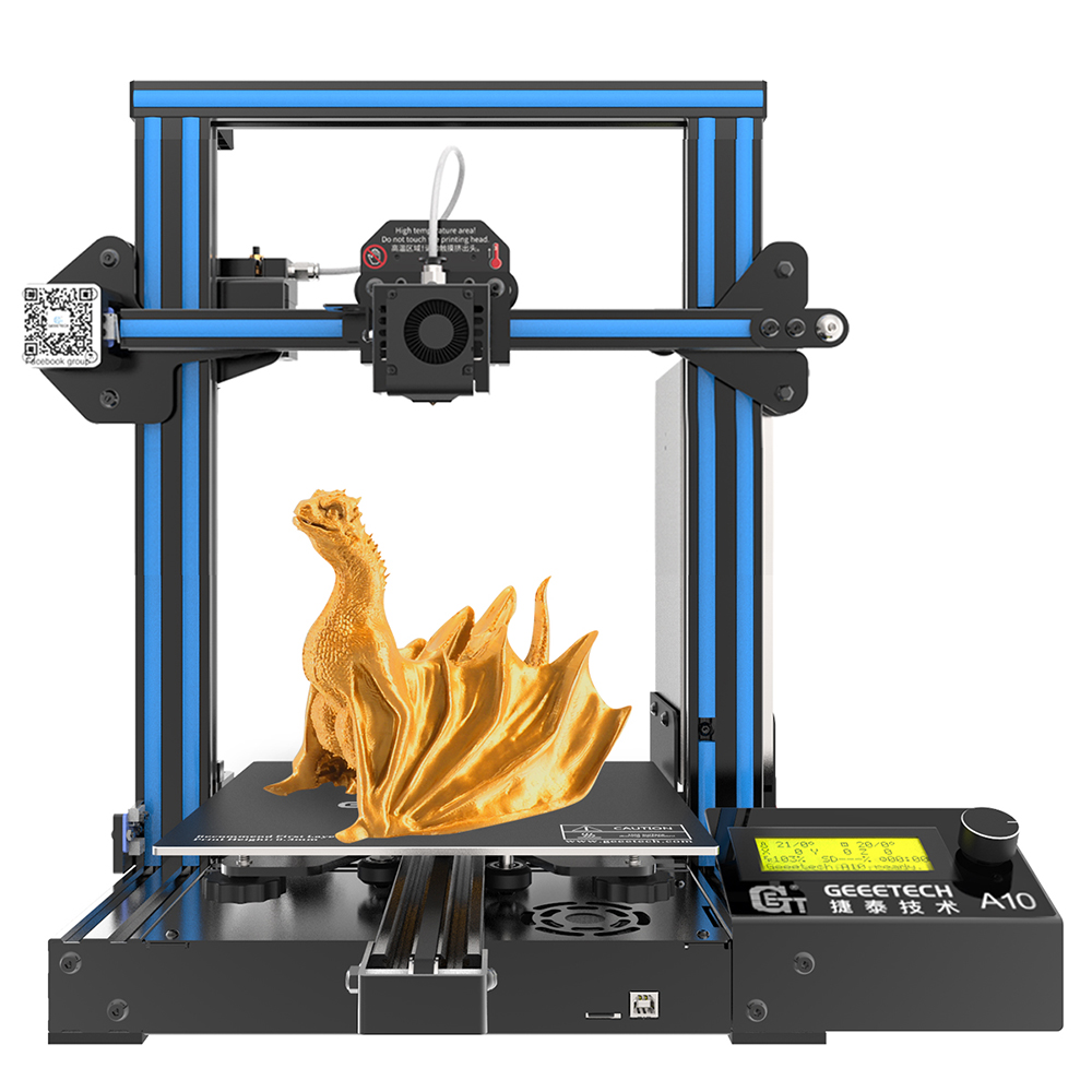Geeetech NEW A10 Efficient and fast quality 3D Printer 220*220*260 High Printing Accur Good Adhesion Platform LCD2004 Display