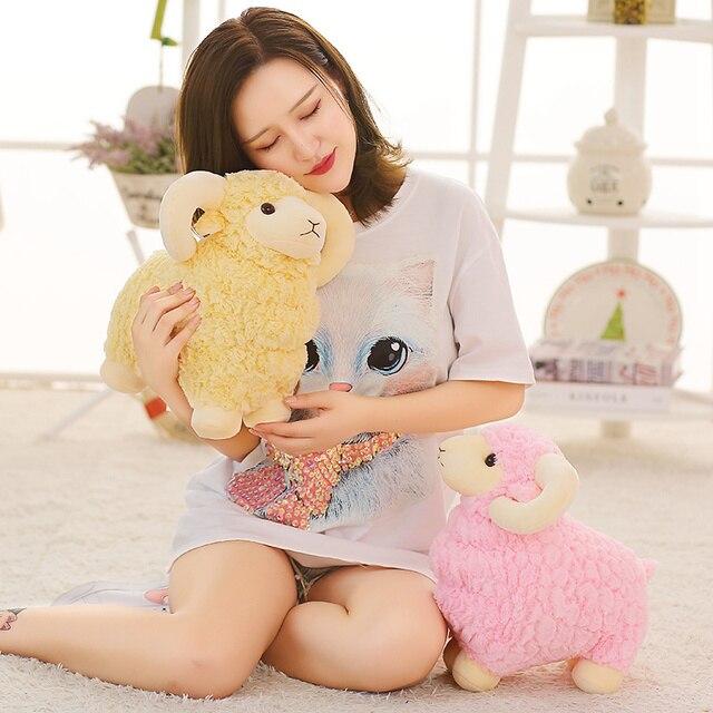 25~55cm Simulated Stuffed Sheep Doll Standing Colorful Grassland Animal Soft Plush Toy Boys Girls Xmas Gift 2