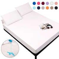 MECEROCK твердый Водонепроницаемый защитный матрас с эластичной лентой, шлифовальный дышащий матрас для кровати, антиклеевой и моющийся