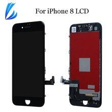 لا الميت بكسل LCD عرض بانتيلا آيفون 8 8 جرام ثلاثية الأبعاد شاشة تعمل باللمس استبدال أجزاء ل iPhone8 LCD محول الأرقام الجمعية أدوات