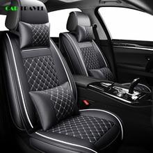(Frente + traseira) capa de assento de carro de couro luxuoso, capa 4 temporada para nissan note juke qashqai j10 almera n16 x trail t31 navara estilo d40