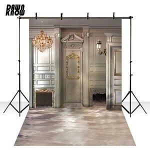 Виниловый фон для фотосъемки в помещении, роскошный светильник, семейный Фотофон для свадебной фотостудии S1858