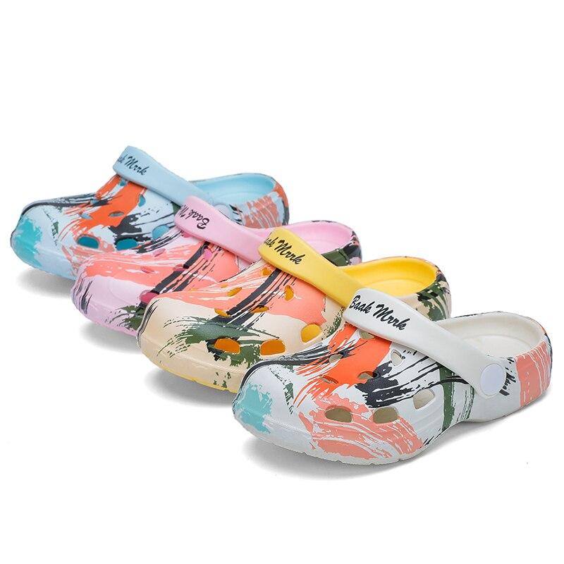 Colorful Fashion Summer Crocse Children Garden Clogs Shoes Boys&Girls Beach Sandal Kids Lightweight Breathable Slip On Mules