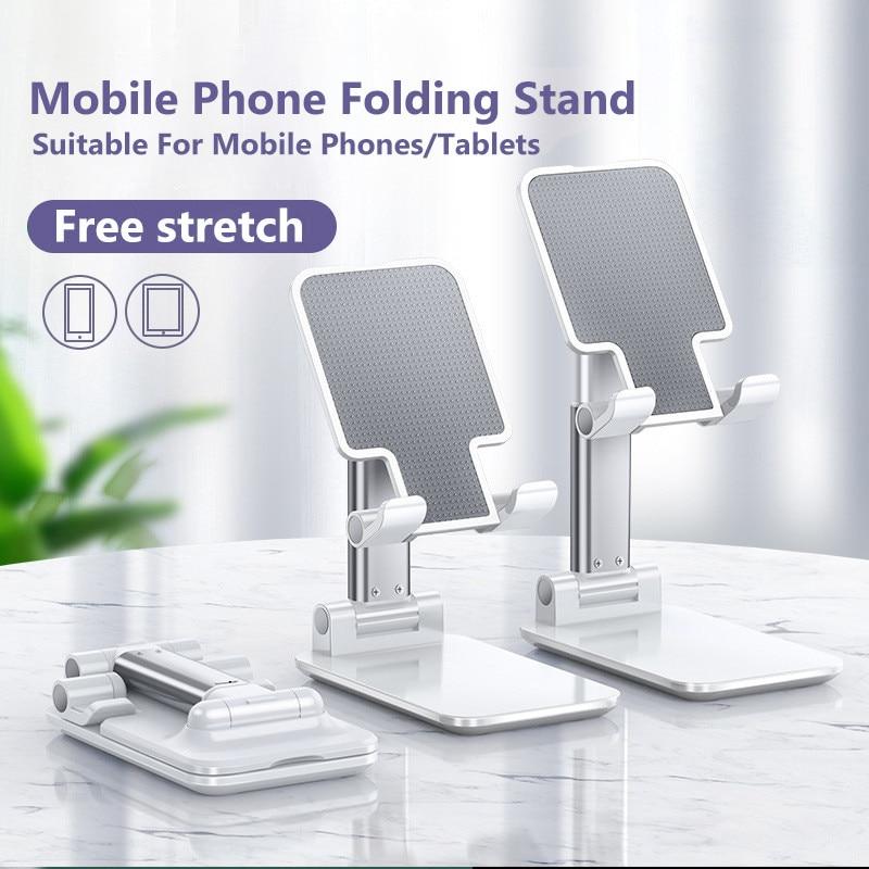Portable Carry Folding Cell Phone Holder Stretchable Stander for iPhone iPad Tablet Flexible Desktop Adjustable Support Bracket