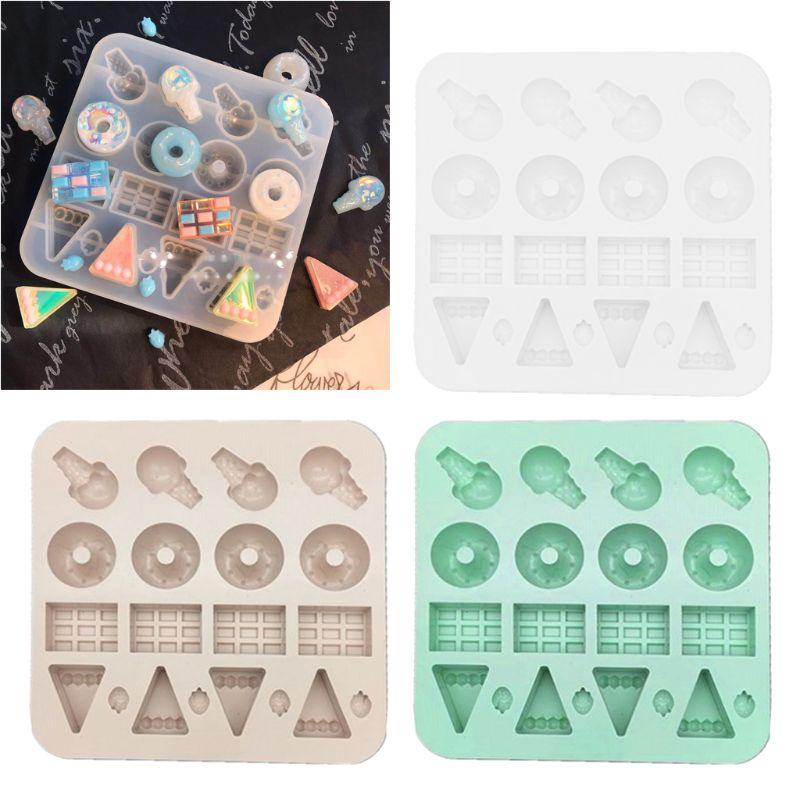 Simulated Food Doughnut Mold Resin Casting Pendant Earrings DIY Jewelry Tools