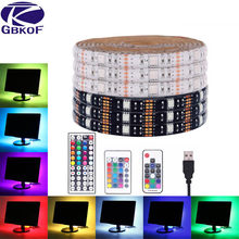 Usb Led Strip 5050 Rgb Flexibele Led Light DC5V Rgb Color Verwisselbare Tv Achtergrond Verlichting.(China)