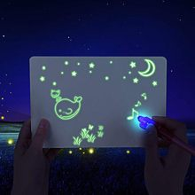 3Pen / Set LED Luminous Drawing Board Graffiti Doodle Drawing Tablet Magic Draw With Light-Fun Fluorescent Pen Educational Toy(China)