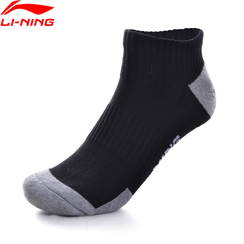 Li-Ning Unisex Training Series Sports Socks 24-28cm 58.7% Cotton 39.2% Polyester 2.1% Spandex LiNing Sport Socks AWSP306 NWM466