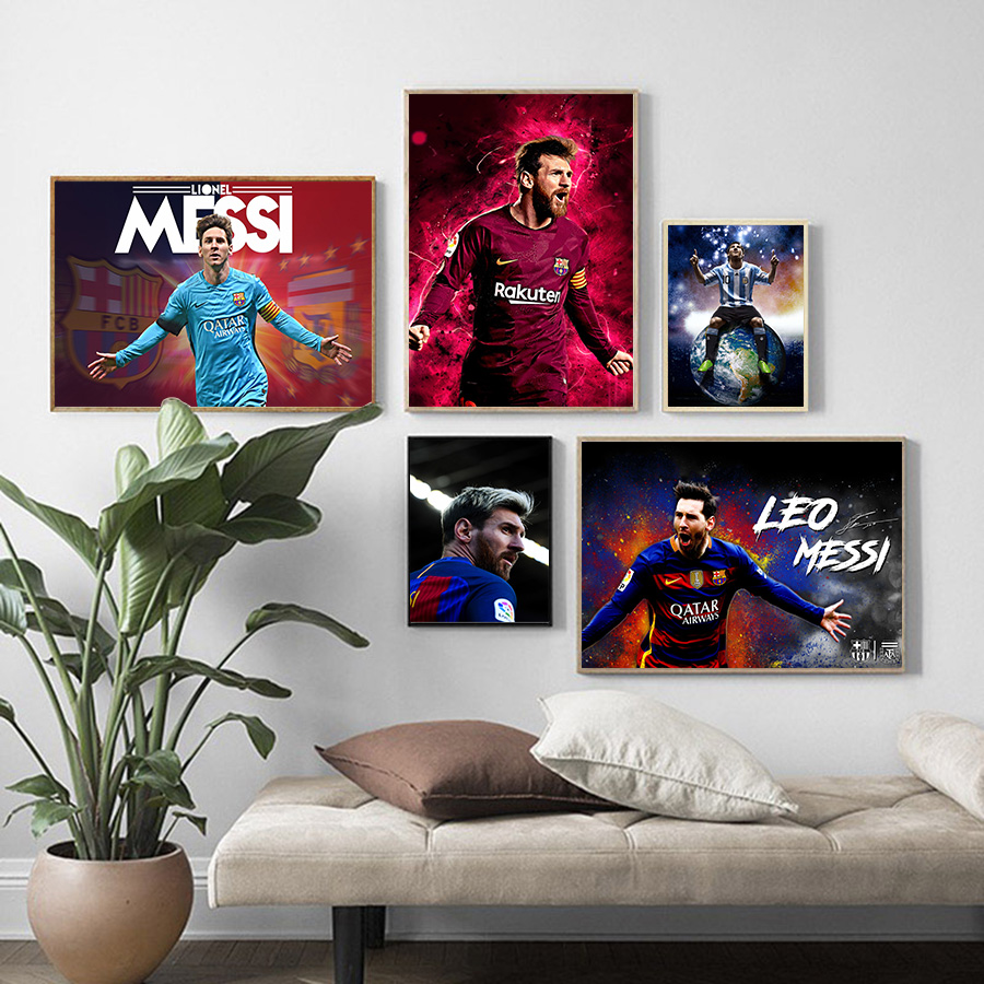 Lionel Messi Poster And Prints Football Stars Canvas Painting Figure Picture Wall Art Home Living Room Bedroom Pop Canvas Decor