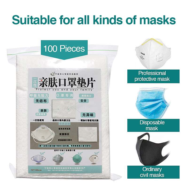 100pcs Disposable Filter Pad For Kids Adult Face Mask Respirator Dustproof Anti PM2.5 Suitable For N95 KN95 KF94 Ffp3 2 1 Masks