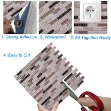 12*12 дюймов самоклеющиеся плитки для стен 3d водостойкие задней