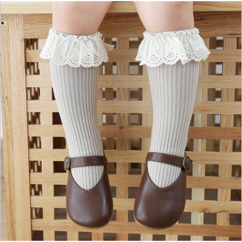 New Baby Girls socks Long Socks Kids Knee Lengths Soft Cotton baby Socks Kids 0-4 Years Knee High Socks 3