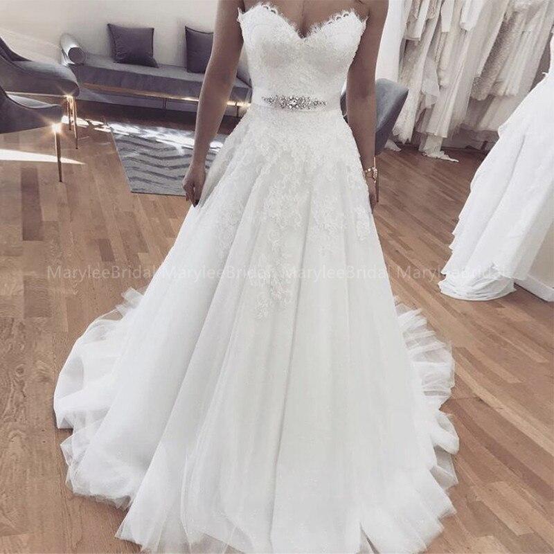 Купить vestido de noiva милая трапециевидной формы аппликации белое