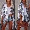 Fashion Kimono Cardigan Blouse Shirt Loose Chiffon Long Tops Summer Casual Ladies Tops Female Women Short Sleeve