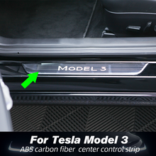 цена на For Tesla Model 3 2017-2020 Stainless Car Door Sill Scuff Plate Protector Trim Guard  Car Styling Telsa Model Three Accessories