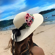MIARA.L hat lady summer flower bow straw hat fashion sunbonnet beach sun hat folding sun hat мужская бейсболка gwcaps oem chunglim sunbonnet baseball hat