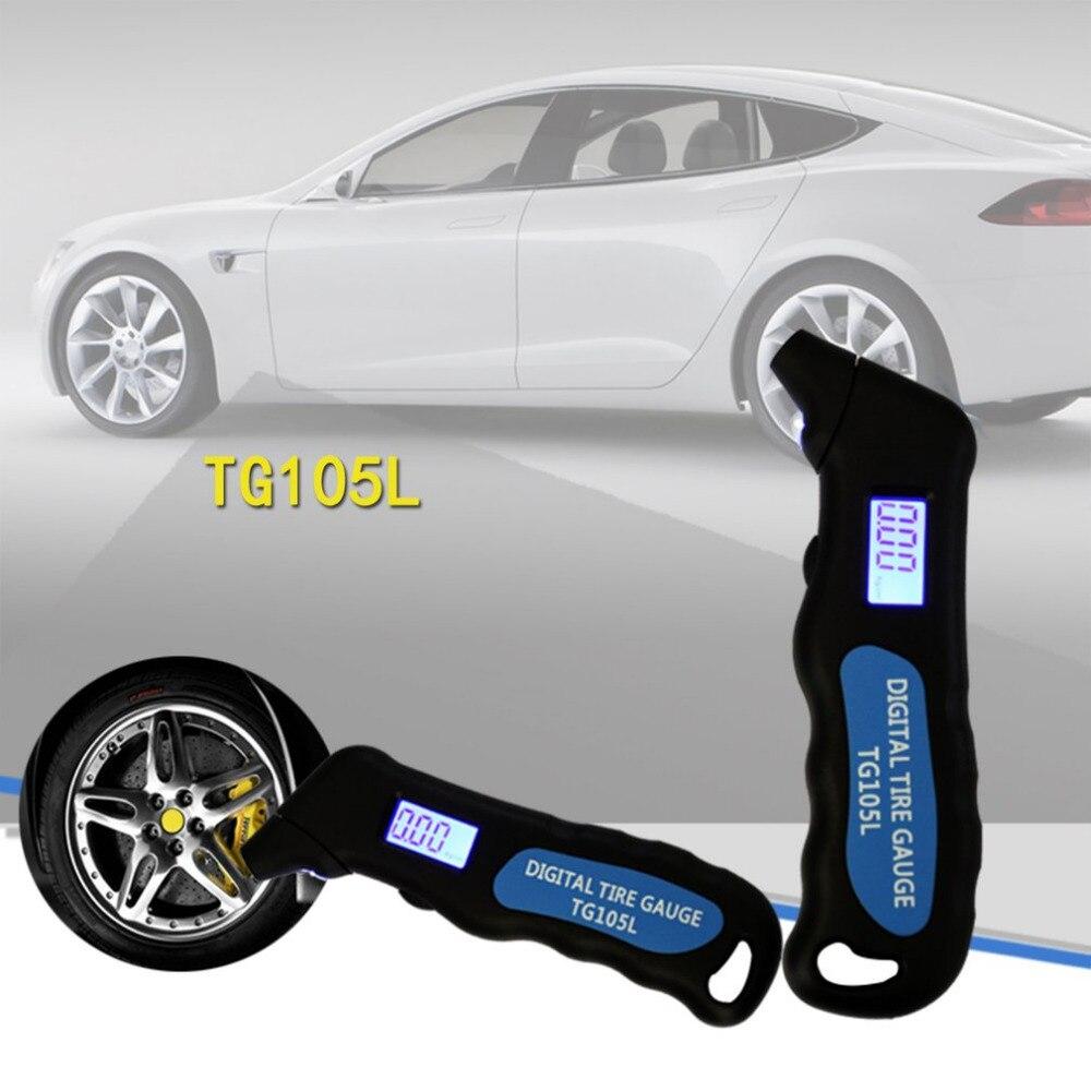 Nouveau TG105 numérique voiture pneu pneu Air manomètre mètre LCD affichage manomètre baromètres testeur pour voiture camion moto vélo