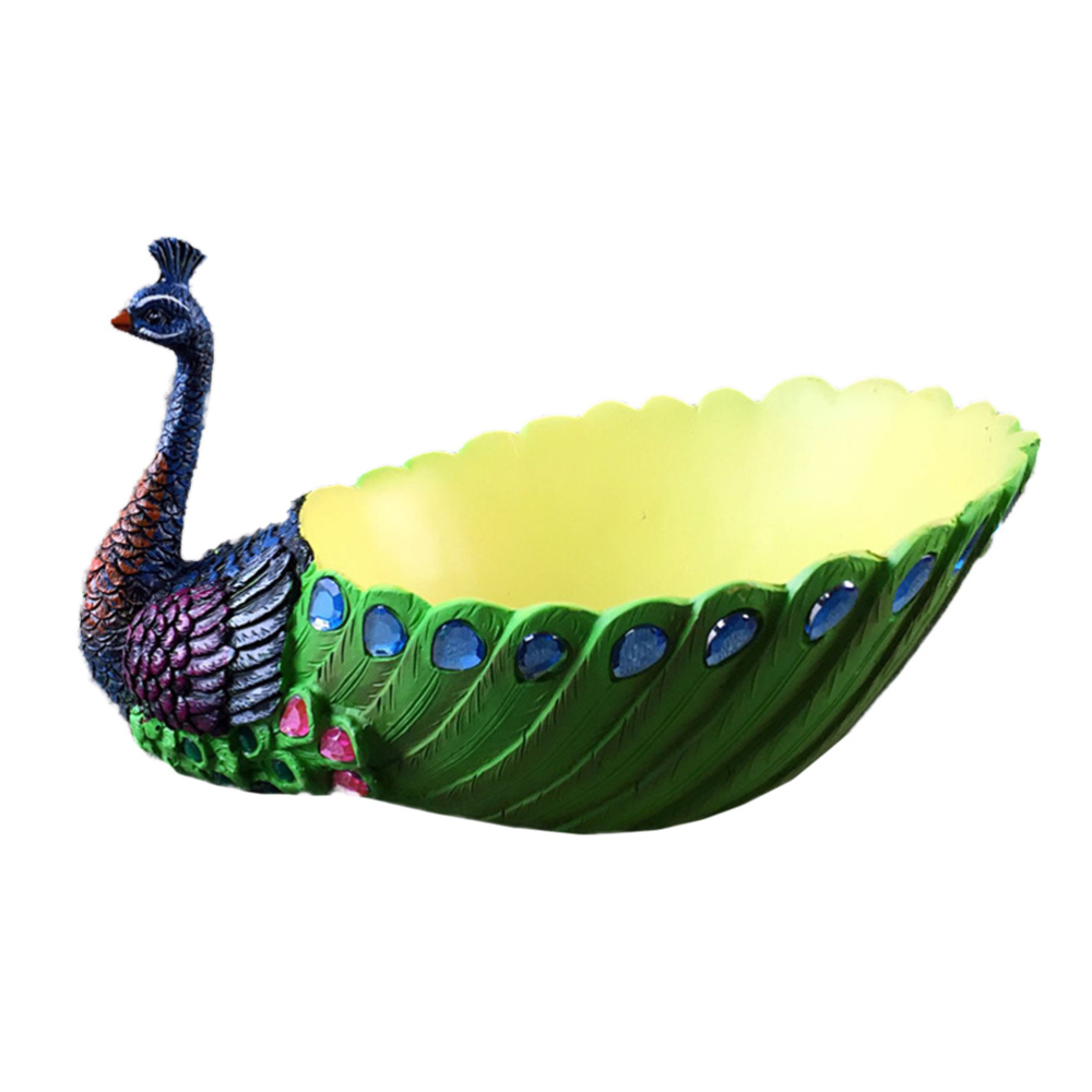 1Pc Resin Peafowl Shape Fleshiness Flower Pot Heavy Calibre Platter Creative Household Ornament For Home Office